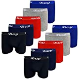 LOREZA ® 10er Pack Jungen Boxershorts Baumwolle (116-122 (6-7 Jahre), 10er Pack)