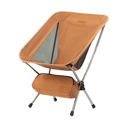 Naturehike Klappbarer Campingstuhl Faltbarer Strandstuhl Tragbarer Outdoor Stuhl für Zelten Picknick Wandern (Gelb)