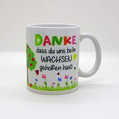 Kaffeebecher ~ Tasse - DANKE, dass du uns beim Wachsen geholfen hast ~ Kindergarten ~Weihnachten Geschenk