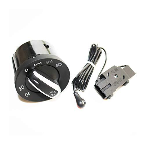 CHANGQING ZXIAOSTORE Nuevo Interruptor de la luz del Faro y el Sensor de Interruptor de la luz Delantero automático para VW Golf 6 MK6 Tiguan Passat B6 B7 CC Touran Jetta (Color : One Set)