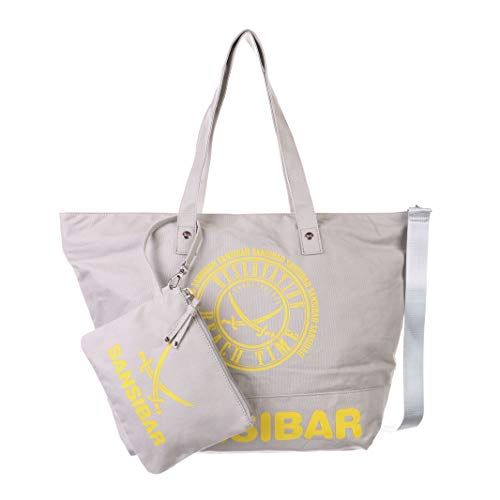 Sansibar Strandtasche Beach Bag mit abnehmbaren Henkel L Sand