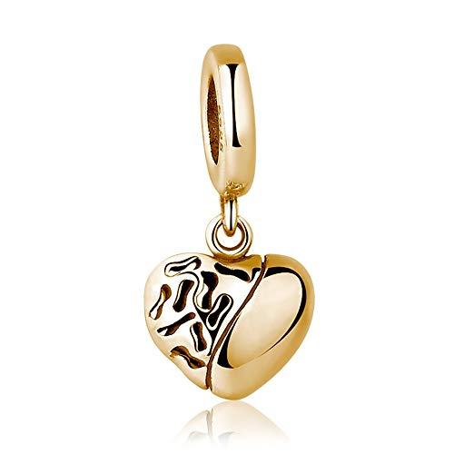 LILIANG Charm Jewelry 925 Sterling Silver Rose Heart Charms Beads Fit Original Pulsera Collar para Mujeres DIY Fabricación De Joyas De Moda