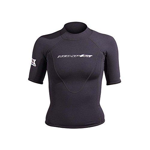 NeoSport Trajes de Las Mujeres XSPAN Camiseta de Manga Corta, Mujer, Negro