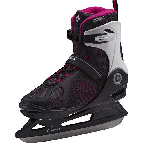 TECNOPRO Damen Phoenix Eishockeyschuhe, Schwarz/Berry/Weiß, 41