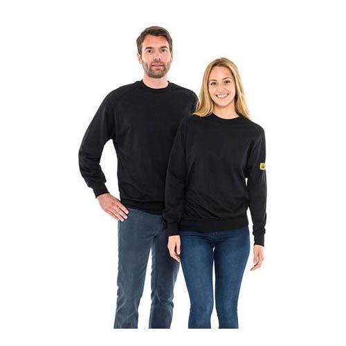Safeguard SWS-THSS-BKL-ROUND ESD-Sweatshirt, Rundhals, 280g/m², L, Schwarz