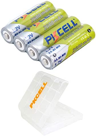 AA Rechargeable Battery 1 2V 2600mAh Ni mh Battery 4Pcs product image