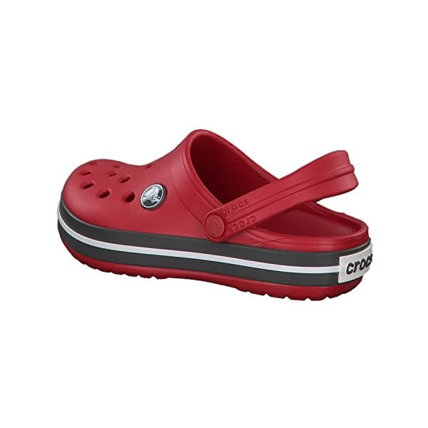 Crocs Kids' Crocband Clog | Slip On Shoes for Boys and Girls | Water Shoes, Pepper/Graphite, J1 US Little Kid
