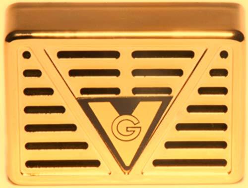 Angelo Humidore und Holz-Kisten: Humidor-Befeuchter für Zigarren, Tabak und Kräuter | 22 x 78 x 53 mm | Acryl-Kristalle, Kunststoff, gold | von bong-discount