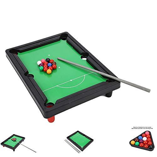 Vikye Billardtisch, Tragbares Tisch Billard Mini Snooker Spieleset mit Hoher Simulation, 13 x 9,5 x 2,6 Zoll Billardtisch, Kleine, Kompakte Größe für Praty zum Spielen mit der Familie