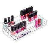 mxjxj Maquillaje Organizador □ 4-Tier Organizador cosmético for Vestir mesas y estanterías de Almacenamiento for el Maquillaje □ Barras de Labios, Sombras de Ojos y más □ Gris Claro