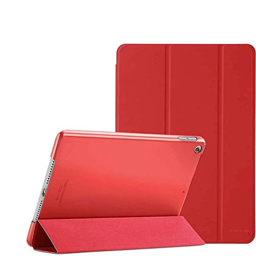 iPad Case for New iPad 8th Generation Case 2020 / Tablet Stand for 7th Generation 2019, iPad 10.2 Case - Slim Lightweight iPad Cover with Back Protector for iPad 10.2 Inch Case (Red)