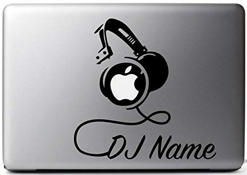 DJ Custom Name Decal Sticker for Laptop