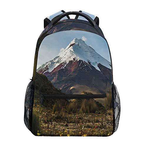 DISLONLY Rucksack Sporttasche Freizeittasche,Cotopaxi-Vulkan an der Dämmerung, die durch die Wildnis Ecuador geht