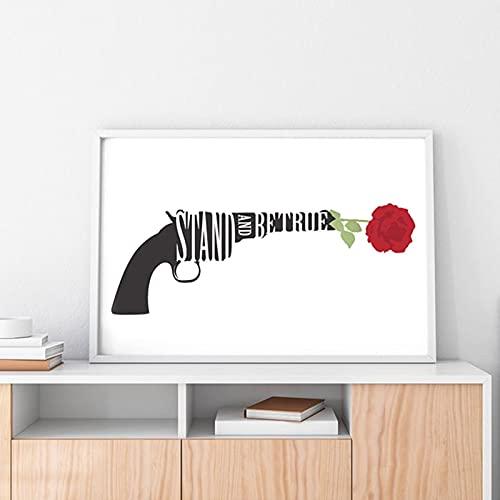 WQHLSH Dark Tower Series Libros Pintura Lienzos Lienzos Stephen King Literatura Muro Arte Mural Colegio Estudio Cartel Creativo Estudio Decoración del hogar 20x28inchx1 Sin Marco