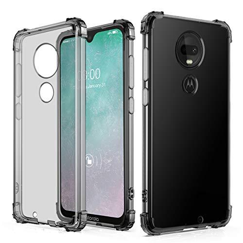 J&D Compatible para Motorola Moto G7 Plus/Moto G7 Funda, [Cojín de Esquina] [Ligero] [Ultra-Clear] Protector de Silicona y Resistente a Los Golpes Funda - [No para Moto G7 Play/G7 Power/G7 Supra]