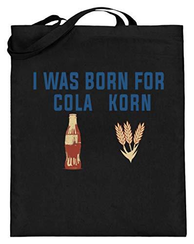 I Was Born For Cola Korn - Schlichtes Und Witziges Design - Jutebeutel (mit langen Henkeln)