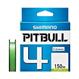 シマノ(SHIMANO) PEライン ピットブル 4本編み 150m 0.8号 ライムグリーン 17.8lb PL-M54R