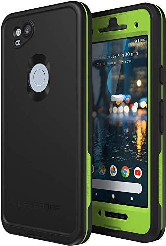 LifeProof FRE Series Waterproof Case for Google Pixel 2 - Non-Retail Packaging - Night Lite (Black/Lime)