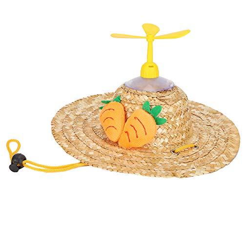Sombrero de paja para mascotas con libélula de bambú estilo Hawaii sombreros accesorios para mascotas