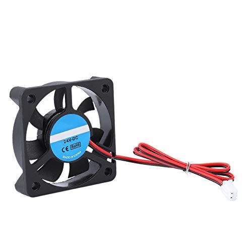 Tangxi Ventilador de Impresora 3D, 50x50x10mm Impresora 3D Ventilador de enfriamiento, DC 24V 4000-6500RPM Ventilador Super silencioso 5010 para CR-10