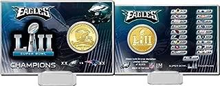 The Highland Mint NFL - Philadelphia Eagles Super Bowl 52 Champions Bronze Coin Card