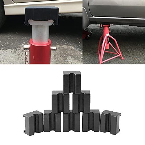 Ruien ジャッキパッド ジャッキスタンド用 8個入り 被せる タイプ ゴム製ラバークッション ジャッキアップ用アダプター 汎用式 方形