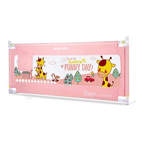 Barrière de lit HUO Clôture portative Sûre de de \ Rails de Lit \ de Bébé avec la Poche de Stockage (Couleur : Pink, Taille : 1.8m)
