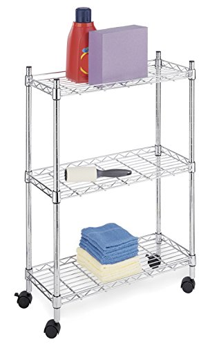 Whitmor Supreme Laundry Cart and Versatile Storage Solution - Chrome