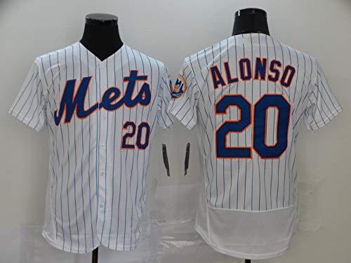 JMING Camiseta De Béisbol para Hombre, Mets 18 Strawberry 20 Alonso Aficionados Y Aficionados Uniformes De Béisbol, Camisetas, Uniformes De Juego, Camisetas Deportivas De Manga Corta (A5,XXXL)