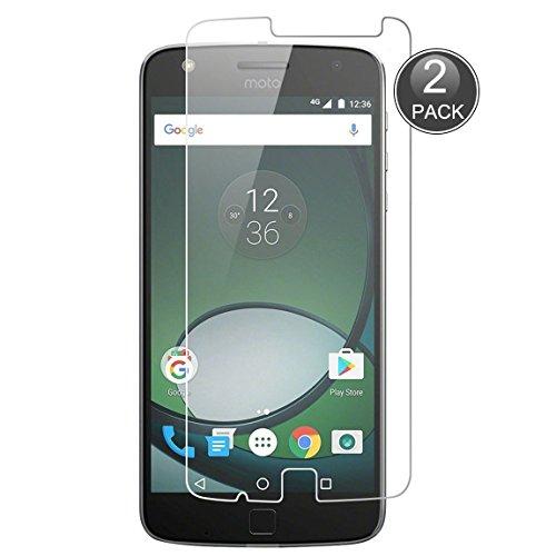 E-Hamii [2-Pack] Protect Film Compatibile con Moto Z Play, 9H Calotta di Protezione in Vetro temperato, HD Proteggi Schermo Anti-graffio e Anti-Impronte digitali (Nota: Non Full Coverage)