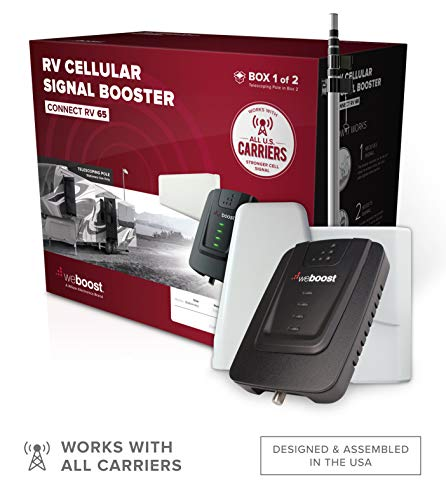 weBoost Connect RV 65 (471203) Cell Phone Signal for Stationary Use Only | U.S. Company | All U.S. Carriers - Verizon, AT&T, T-Mobile, Sprint & More | FCC Approved