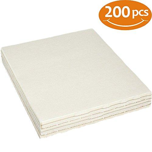 World Weidner Cut Away Machine Embroidery Stabilizer Backing 100 Precut Sheets 8x8 Medium Weight 2.5 Ounce Fits 4x4 Hoops
