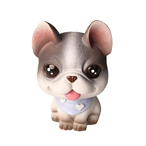 Cute French Bulldog Car Interior Display Accessories, Car Dashboard Decorations, Ornament for Car, Home, Office, Wedding Party, Kids Adults Lovely Cartoon gifts (Gray French Bulldog)