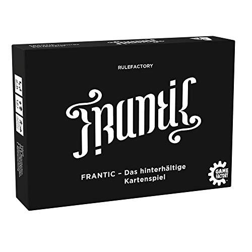 Game Factory 646224 Frantic, das hinterhältige Kartenspiel, deutsche Version, Schwarz, Weiß