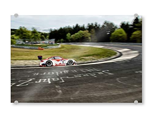 artboxONE Acrylglasbild 120x80 cm Sport/Motorsport Porsche - Bild Nordschleife Nürburgring Grüne Hölle