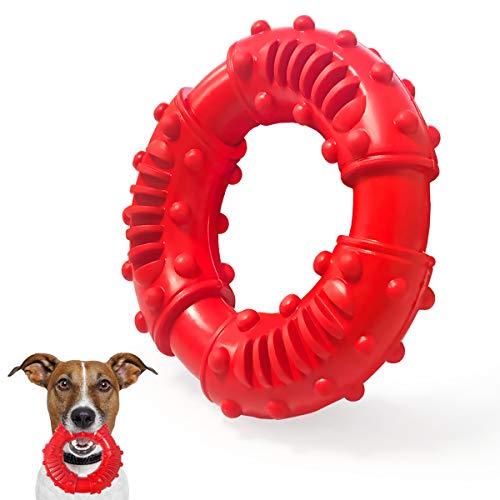 BoloShine Ultra-haltbares Hunde Kauknochen Spielzeug, Hundespielzeug Unzerstörbar aus Natürliches Gummi, Kauspielzeug mit Rindfleischgeschmack für Kleine, Mittelgroße und Große Hunde