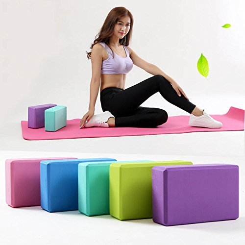 TradeVast Yoga Brick Block EVA Foam Block to Support and Deepen Poses, Improve Strength and Aid Balance and Flexibility