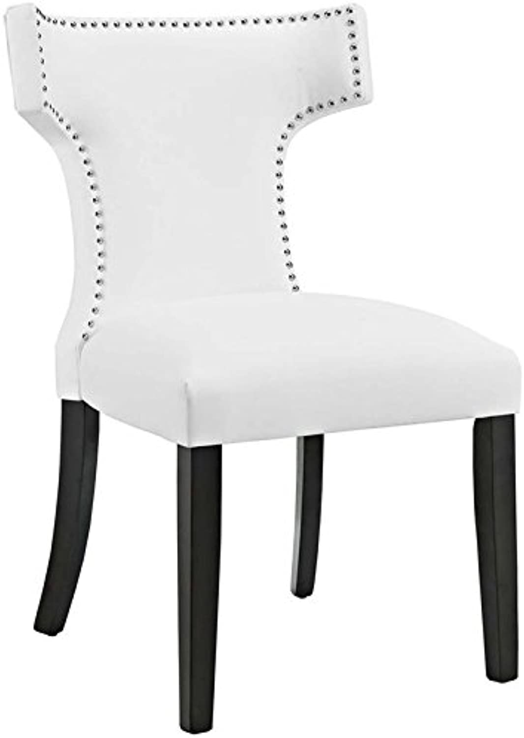 Hawthorne Collection Faux Leather Upholstered Dining Side Chair in White