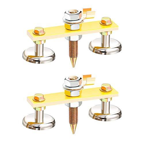 ZHITING 2 Piezas Cabeza de Imán de Soldadura Abrazadera de Tierra de Soldadura Magnética Fuerte Magnetismo de Gran Succión Welding Clamp Herramienta