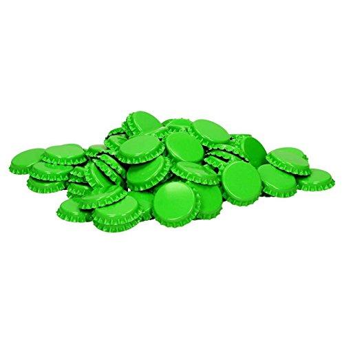 Corona corchos para cerrar de inodoros mehrwegflaschen 100pieza verde lima chapas cerveza Cápsula
