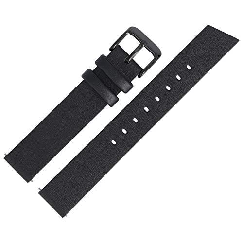 Liebeskind Berlin Uhrenarmband 16mm Leder Schwarz Glatt - B_LT-0184-LQ