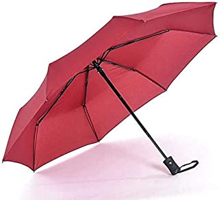 2018 Hot Popular Automatic Umbrella Windproof Mens Black Compact Wide Auto Open Close Lightweight,Red