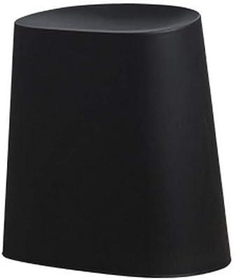 A-Fort DLDLシンプルなスツールプラスチック創造的な靴のベンチは、小さなスツール (色 : 黒)