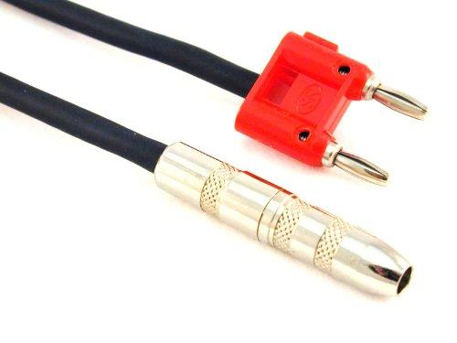 Conquest Sound BF16 Lautsprecherkabel (Bananenstecker auf 6,35 mm weiblich, 12 Gauge)
