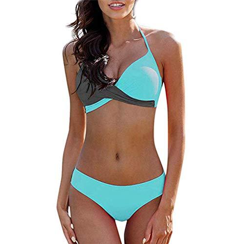 CheChury Bikinis Mujer 2020 Push Up Halter Bikini Traje de