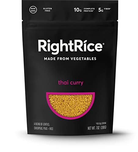 Right Rice Made from Vegetables, High Protein, Vegan, non GMO, Gluten Free Thai Curry