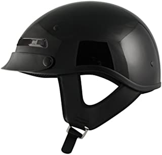 ZOX Alto Custom Open Face Helmet (Glossy Black, Large)