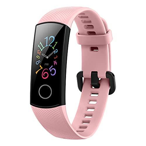 HONOR Band 5 Fitness Armband, 0,95'' AMOLED Display, Tracker mit Pulsuhr, Herzfrequenz- und SpO2-Überwachung, 2 Wochen Akkulaufzeit, 5ATM, Schrittzähler, Coral Pink