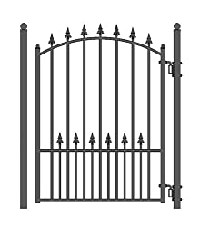 Wrought iron arched top garden gate