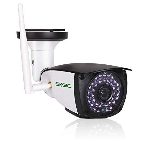 SV3C 5MP Überwachungskamera Aussen WLAN, Super HD WiFi IP Kamera für Außen mit Zwei-Wege-Audio, Nachtsicht, SD Kartensteckplatz, Bewegungserkennung kompatibel mit Smartphones Tablets und Windows PC